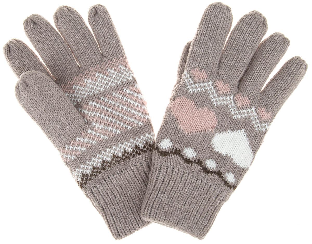 Перчатки женские. Z-RE-1810Z-RE-1810 BEIGEВязаные женские перчатки Moodo надежно защитят ваши руки от холода. Перчатки выполнены из высококачественного акрила с подкладкой из флиса. На запястье изделие дополнено вязкой в резинку. Модель оформлена нежным узором с сердечками. Перчатки станут завершающим и подчеркивающим элементом вашего стиля и неповторимости.
