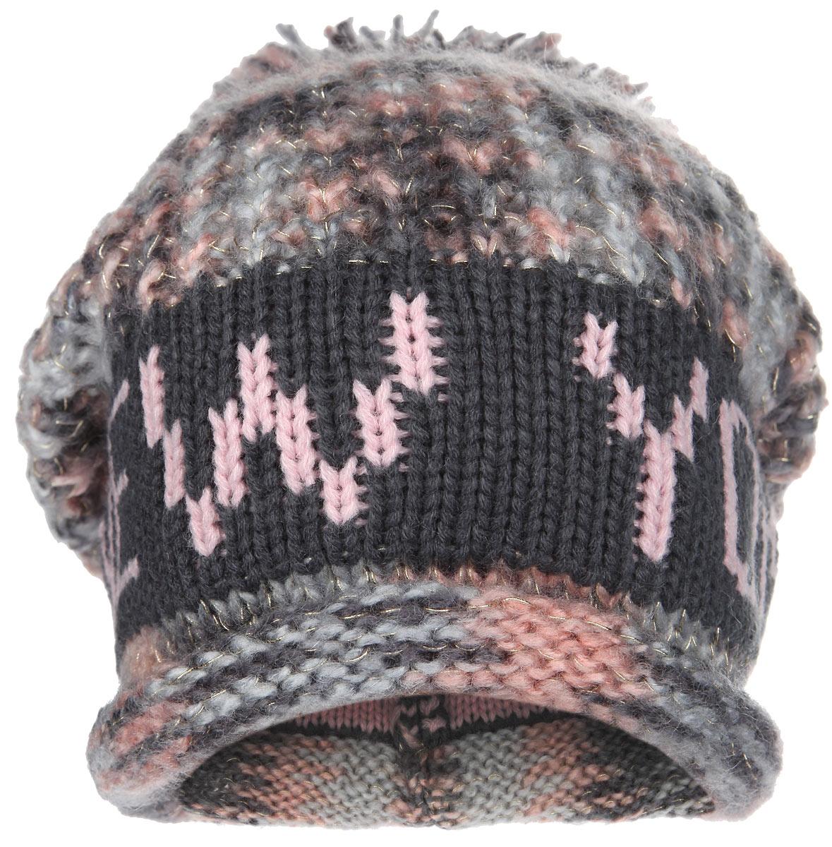 Шапка New York. HNY156HNY156-AСтильная шапка Robin Ruth с вязаной надписью New York приятно дополнит ваш образ в холодную погоду. Шапка подходит для повседневной носки и для активного зимнего отдыха, а также в качестве подарка вашим родным и знакомым. Шапка с подвернутым краем оформлена помпоном. Теплая шапка станет отличным дополнением к вашему гардеробу, в ней вам будет уютно и тепло!