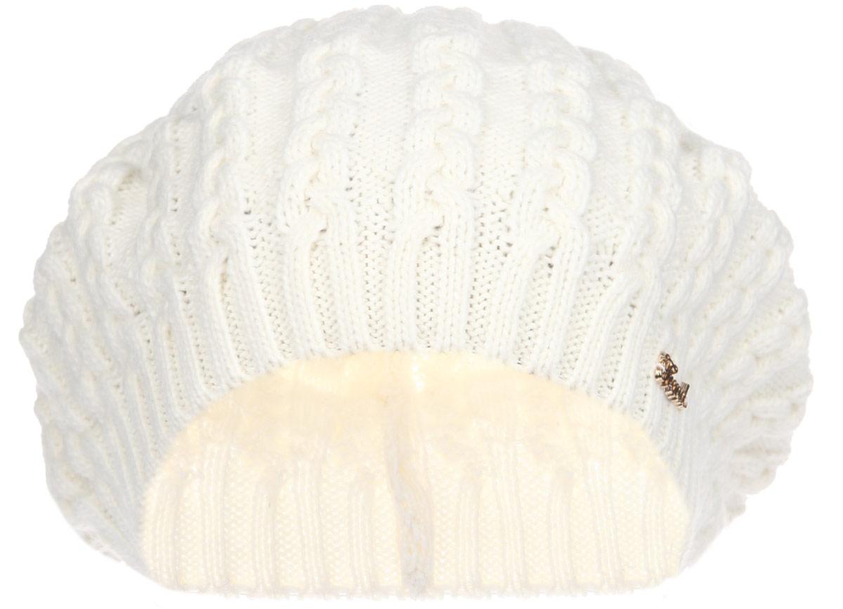 Берет женский. 1-0231-023_002Классический женский берет Flioraj станет отличным дополнением к вашему гардеробу в холодную погоду. Он изготовлен из шерсти с добавлением акрила, мягкий и приятный на ощупь. Лобная часть изделия выполнена резинкой, плотно прилегающей к голове, которая отлично сохраняет тепло. Модель оформлена вязаным узором в виде косичек, а также украшена небольшим декоративным элементом в виде надписи. Такой стильный и теплый аксессуар подчеркнет вашу женственность и неповторимость. Уважаемые клиенты! Размер, доступный для заказа, является обхватом головы.