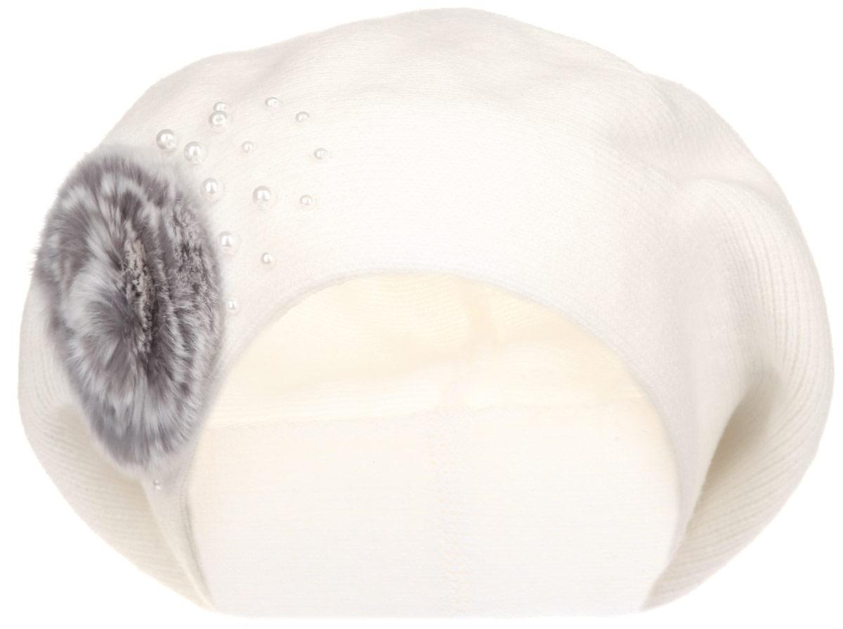 Берет женский. 1-0251-025_001Женский берет Flioraj станет отличным дополнением к вашему гардеробу в холодную погоду. Он выполнен из шерсти с добавлением акрила, мягкий и приятный на ощупь, максимально сохраняет тепло. Модель украшена бусинами и декоративным элементом из натурального меха. Такой стильный и теплый аксессуар подчеркнет вашу женственность и неповторимость! Уважаемые клиенты! Размер, доступный для заказа, является обхватом головы.