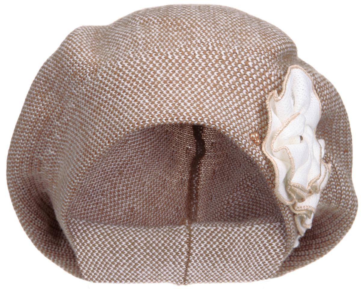 Берет женский. 1-0041-004-157/001Элегантный женский берет Flioraj отлично дополнит ваш образ в холодную погоду. Берет выполнен из высококачественной комбинированной пряжи из акрила и шерсти, что позволяет ему максимально сохранять тепло и обеспечивает удобную посадку. Берет оформлен декоративным вязаным цветком и блестящими бусинами. Такая модель комфортна и приятна на ощупь, она великолепно подчеркнет ваш вкус и подойдет к любому наряду. Такой берет станет отличным дополнением к вашему осеннему или зимнему гардеробу, в нем вам будет уютно и тепло! Уважаемые клиенты! Размер, доступный для заказа, является обхватом головы.