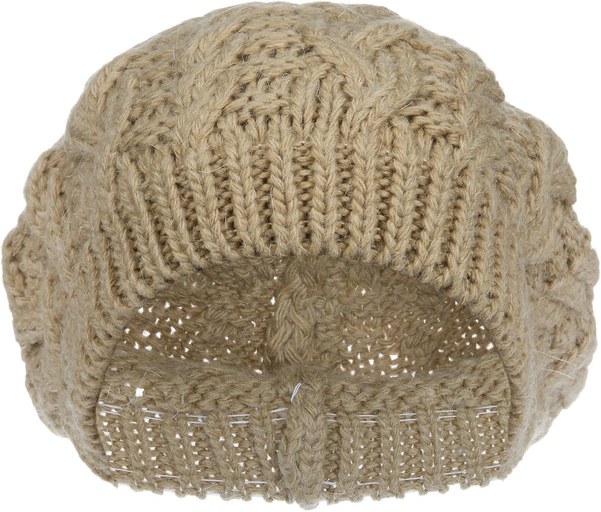 Берет женский. 1-0091-009_006мЖенский вязаный берет Flioraj дополнит ваш образ в холодную погоду. Модель выполнена из высококачественной шерсти в сочетании с акрилом, приятная на ощупь, максимально сохраняет тепло. Берет идеально прилегает к голове, благодаря вязаной эластичной резинке по краю. Оформлено изделие крупным вязаным узором. Такой теплый аксессуар подчеркнет вашу индивидуальность и станет стильным дополнением к гардеробу! Уважаемые клиенты! Размер, доступный для заказа, является обхватом головы.