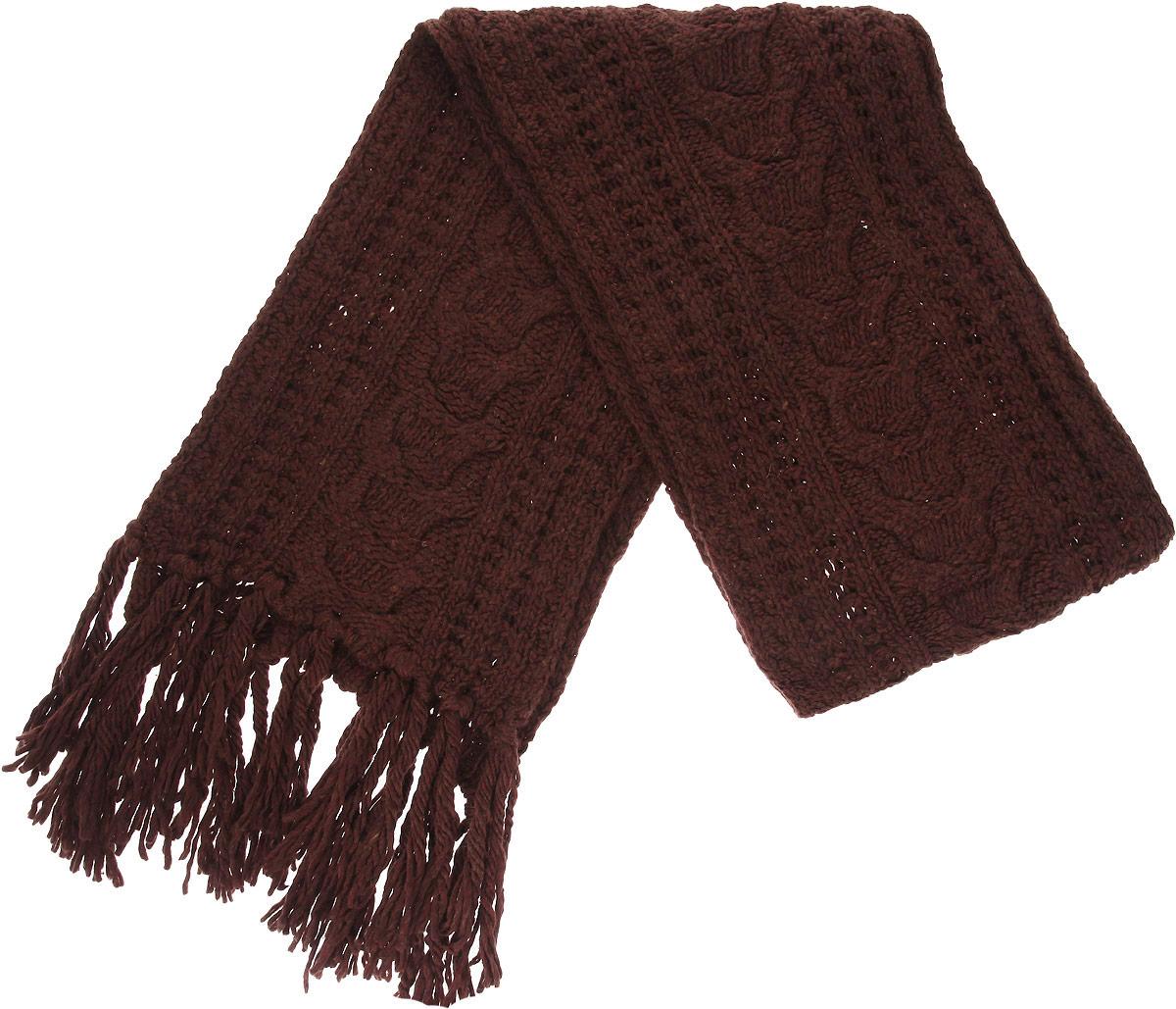 Шарф женский. 23004712300471-01Модный женский шарф Venera подарит вам уют и станет стильным аксессуаром, который призван подчеркнуть вашу индивидуальность и женственность. Шарф выполнен из высококачественной комбинированной пряжи, он невероятно мягкий и приятный на ощупь. Концы шарфа украшены длинными кисточками. Такой шарф надежно защитит вас от холода и ветра. Этот модный аксессуар гармонично дополнит образ современной женщины, следящей за своим имиджем и стремящейся всегда оставаться стильной и элегантной. Такой шарф украсит любой наряд и согреет вас в непогоду, с ним вы всегда будете выглядеть изысканно и оригинально.