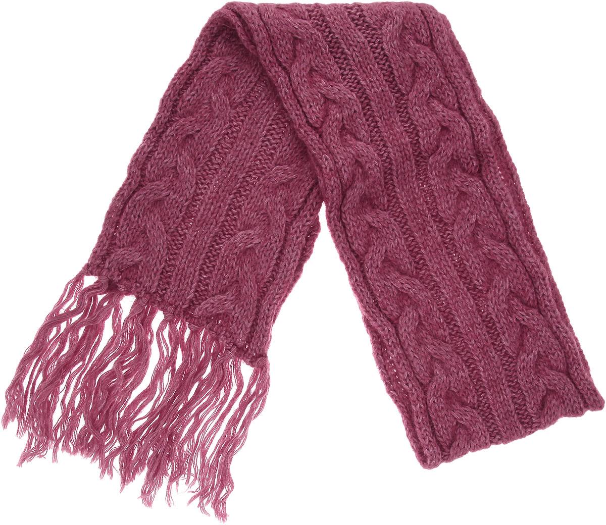 Шарф женский. 23001372300137-03Модный женский шарф Venera подарит вам уют и станет стильным аксессуаром, который призван подчеркнуть вашу индивидуальность и женственность. Шарф выполнен из высококачественной комбинированной пряжи из акрила с добавлением мохера и шерсти, он очень мягкий и приятный на ощупь. Модель оформлена объемными вязаными косичками и дополнена длинной бахромой. Такой шарф надежно защитит вас от холода и ветра. Этот модный аксессуар гармонично дополнит образ современной женщины, следящей за своим имиджем и стремящейся всегда оставаться стильной и элегантной. Такой шарф украсит любой наряд и согреет вас в непогоду, с ним вы всегда будете выглядеть изысканно и оригинально.