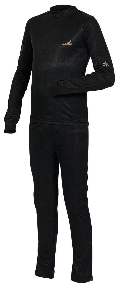 Термобелье комплект (брюки и кофта)308101Детский комплект термобелья Norfin Junior Thermo Line, состоящий из футболки с длинным рукавом и брюк, изготовлен из высококачественного материала -100% полиэстера, он идеально подойдет для ребенка в прохладную погоду. Футболка с длинными рукавами-реглан и круглым вырезом горловины дополнена удлиненной спинкой и оформлена небольшими вышивками. Рукава дополнены широкими трикотажными манжетами. Брюки прямого покроя на талии имеют широкую эластичную резинку, регулируемую шнурком. Ниш штанин дополнен широкими трикотажными манжетами. В таком комплекте термобелья вашему ребенку будет тепло и комфортно.
