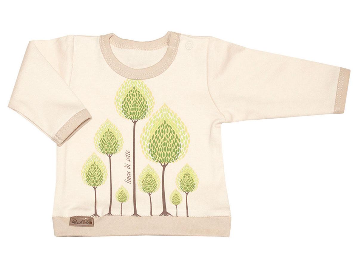 Распашонка02-0703Кофточка Linea Di Sette Сказочный лес станет отличным дополнением к гардеробу вашего ребенка. Изделие изготовлено из высококачественного органического полотна в соответствии с принятыми стандартами. Органический хлопок - это безвредная альтернатива традиционному хлопку, ткани из него не вредят нежной коже ребенка, а также их производство безопасно для окружающей среды. Органический хлопок очень мягкий, отлично пропускает воздух, обеспечивая максимальный комфорт. Кофточка с круглым вырезом горловины и длинными рукавами имеет застежку-кнопку по плечу, что позволяет с легкостью переодеть ребенка. Вырез горловины, низ рукавов и низ изделия дополнены трикотажной вставкой контрастного цвета. Модель оформлена принтом с изображением деревьев. Кофточка полностью соответствует особенностям жизни ребенка в ранний период, не стесняя и не ограничивая его в движениях. В ней ваш младенец всегда будет в центре внимания.