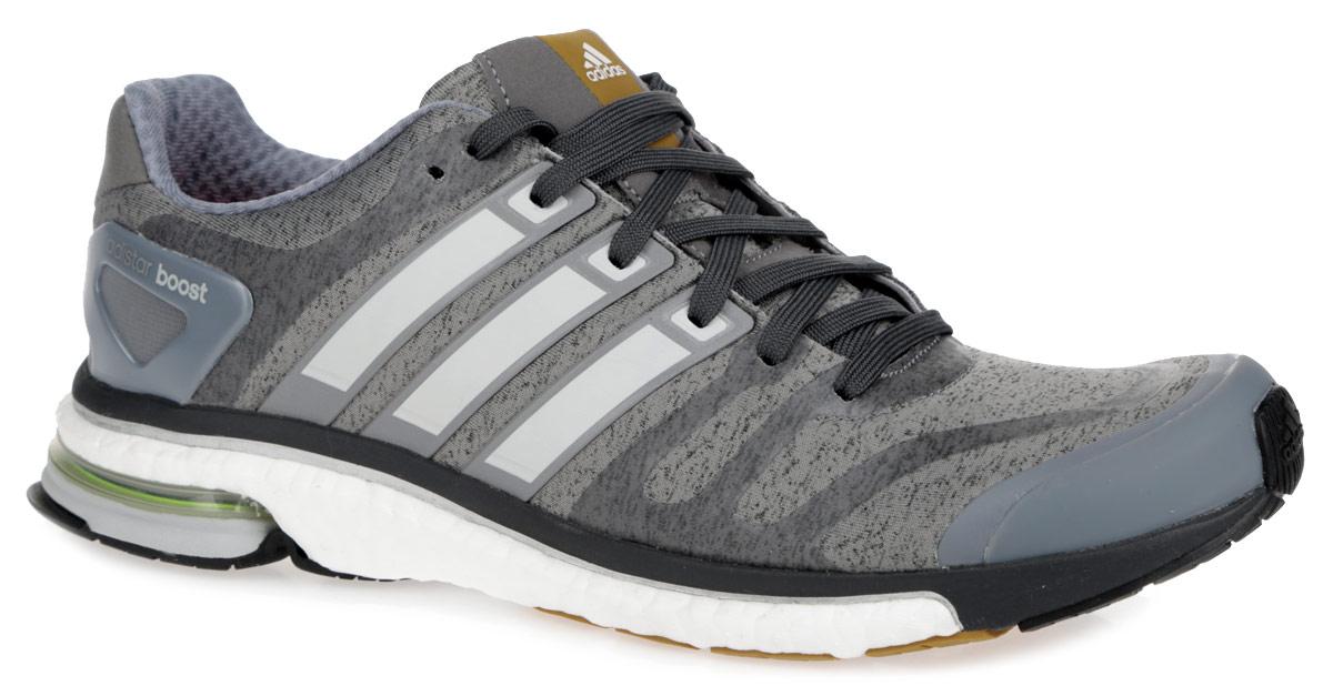 Кроссовки для бега мужские Adidas Adistar Boost. S77589S77589Мужские кроссовки для бега от Adidas Adistar Boost- достойный выбор для спортсменов, устанавливающих перед собой высокие цели и стремящихся к их достижению. Модель, выполненная из комбинации текстиля и искусственных материалов, дарит комфорт и легкость во время ходьбы или бега. Верх изделия оформлен шнуровкой, которая надежно фиксирует обувь на ноге. Подкладка и стелька, исполненные из текстиля, обеспечат уют ногам. Уникальный дизайн в сочетании с технологией boost, в промежуточной части подошвы, обеспечивает максимум энергии во время тренировки. Конструкция пятки эффективно поглощает силу удара при каждом шаге, а вставка Torsion System поддерживает свод стопы. По бокам кроссовки декорированы тремя фирменными полосками, а на язычке и заднике тиснением в виде логотипа бренда. Подошва, изготовленная из гибкой резины Continental, обеспечит прочное сцепление с любой поверхностью.