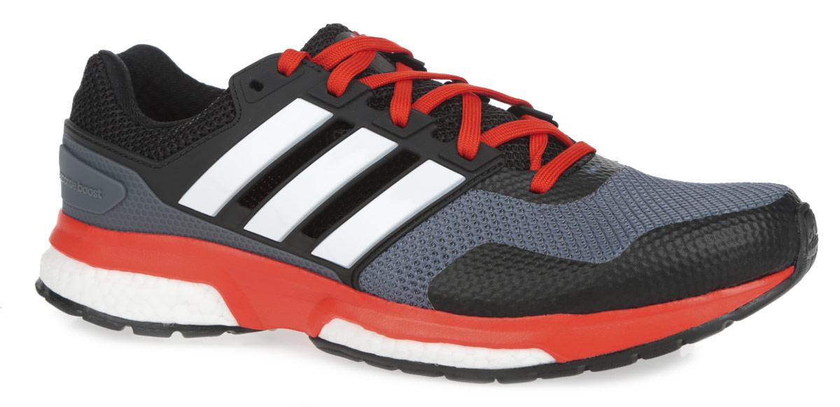 Кроссовки для бега мужские Response Boost 2B33487Мужские кроссовки для бега от Adidas Response Boost 2 - достойный выбор для спортсменов, устанавливающих перед собой высокие цели и стремящихся к их достижению. Модель, выполненная из комбинации текстиля и искусственных материалов с дышащим сетчатым верхом, дарит комфорт и легкость во время ходьбы или бега. Верх изделия оформлен шнуровкой, которая надежно фиксирует обувь на ноге. Подкладка и стелька, исполненные из текстиля, обеспечат уют ногам. Уникальный дизайн в сочетании с технологией boost, в промежуточной части подошвы, обеспечивает максимум энергии во время тренировки. Конструкция пятки эффективно поглощает силу удара при каждом шаге, а вставка Torsion System поддерживает свод стопы. По бокам кроссовки декорированы тремя фирменными полосками, а на язычке и заднике тиснением в виде логотипа бренда. Подошва, изготовленная из гибкой резины Continental, обеспечит прочное сцепление с любой поверхностью.