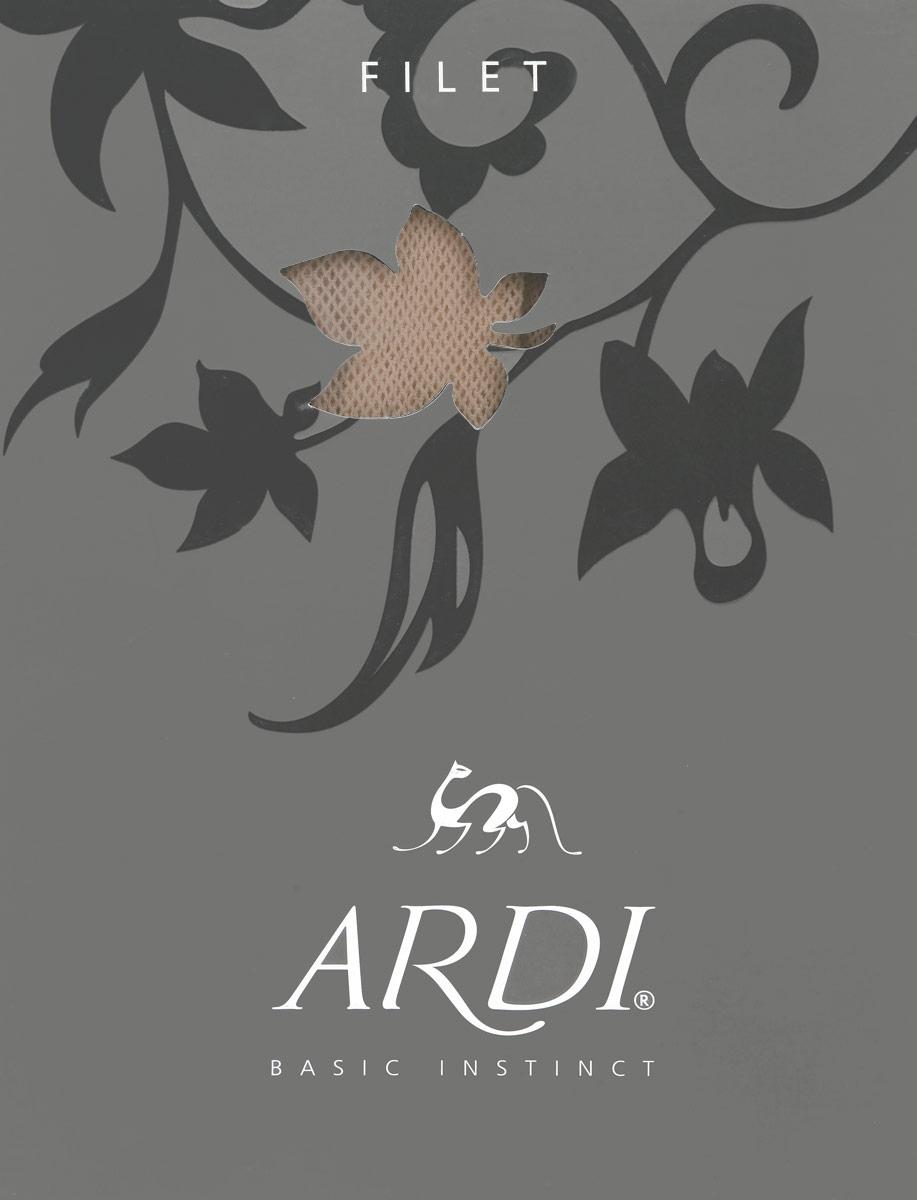 Колготки FiletFiletМодные колготки в сеточку Ardi Filet, изготовленные из высококачественного комбинированного материала, идеально дополнят ваш образ в прохладную погоду. Входящий в состав материала эластан обеспечивает плотное облегание и исключает образование складок на ногах. Модель выполнена без швов, что повышает удобство при использовании облегающих нарядов. Комфортность при длительной носке обеспечивает хлопчатобумажная ластовица, впитывающая излишнюю влагу. Модель гармонично будет сочетаться с нарядами межсезонья и с успехом может использоваться и с летними платьями или даже сарафанами. Особенно стильно колготки будут смотреться с летними сапожками из ткани.