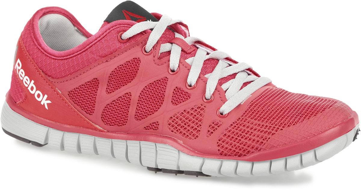 Кроссовки для бега женские Zquick TR 3.0. M48850M48850Стильные и оригинальные женские кроссовки для бега от Reebok Zquick TR 3.0 отличаются легкостью и оригинальным дизайном. Изделие выполнено из комбинации легкого дышащего текстиля и вставок из резины NanoWeb для лучшего обхвата стопы и отличного воздухообмена. Специальная подкладка и съемная анатомическая стелька, исполненные из текстиля, способствуют поддержанию оптимального микроклимата, сохраняя ощущение комфорта и сухости. Верх кроссовок оформлен шнуровкой, которая гарантирует надежную фиксацию изделия. На заднике обувь декорирована принтом в виде логотипа бренда. Язычок дополнен текстильной нашивкой. Промежуточная подошва Zrated из ЭВА предназначена для невероятной гибкости и отличного управления. Гибкая подошва с рельефным протектором обеспечивает сцепление с любой поверхностью. Кроссовки отличаются облегченной подметкой со вставками из прочной резиновой смеси.