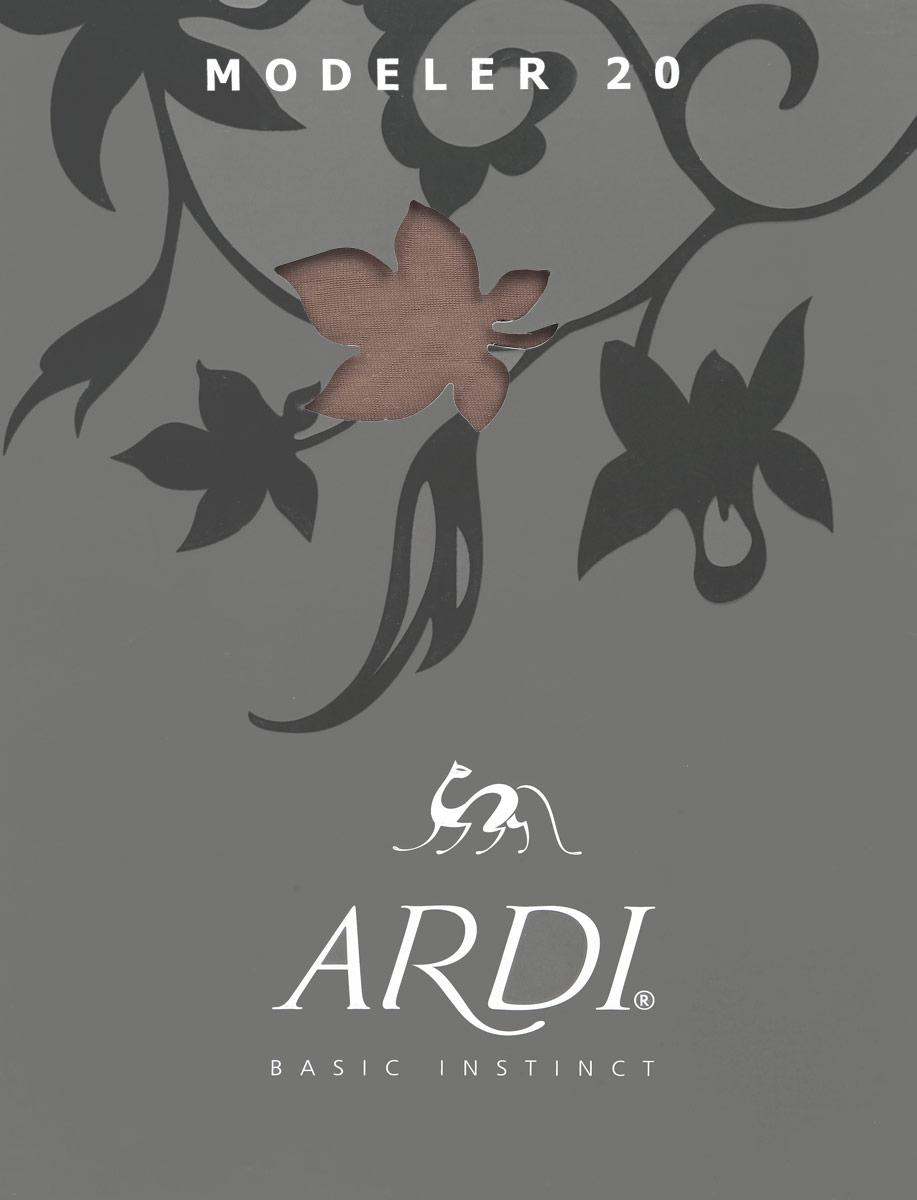 Колготки Modeler 20Modeler 20Тонкие прозрачные шелковистые колготки Ardi Modeler 20, изготовленные из высококачественного комбинированного материала, идеально дополнят ваш образ в прохладную погоду. Колготки легко тянутся, что делает их комфортными в носке. Моделирующая верхняя часть выполнена в виде системы поясов, которые приподнимают ягодицы и утягивают живот, бедра и ноги. Гладкие и мягкие на ощупь колготки имеют комфортные плоские швы, хлопчатобумажную ластовицу и усиленный мысок. Моделирующие шортики и комфортный поясок делают фигуру неотразимой! Плотность: 20 den.