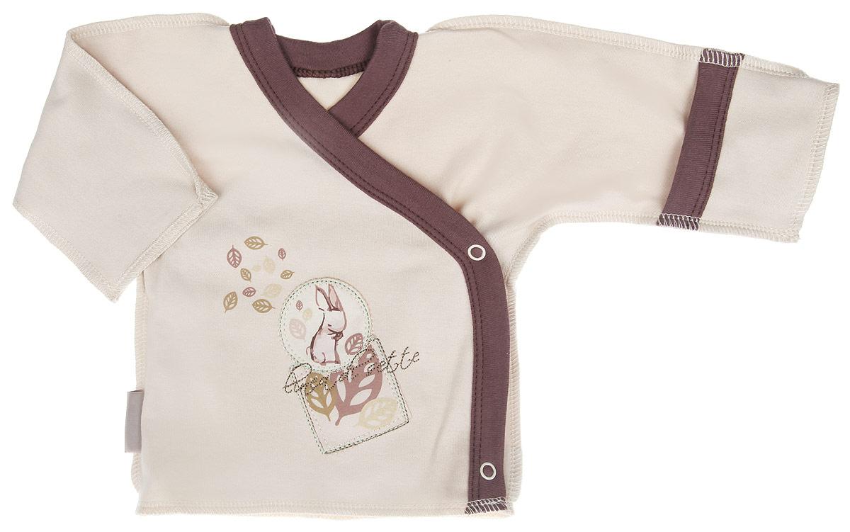 Распашонка01-0401Распашонка-кимоно Linea Di Sette Зайка послужит идеальным дополнением к гардеробу вашего ребенка. Изделие изготовлено из высококачественного органического полотна в соответствии с принятыми стандартами. Органический хлопок - это безвредная альтернатива традиционному хлопку, ткани из него не вредят нежной коже малыша, а также их производство безопасно для окружающей среды. Органический хлопок очень мягкий, отлично пропускает воздух, обеспечивая максимальный комфорт. Эластичные швы, выполненные наружу, приятны телу младенца и не препятствуют его движениям. Распашонка с длинными рукавами и V-образным вырезом горловины застегивается с помощью кнопок по принципу кимоно, что помогает с легкостью переодеть кроху. Рукава дополнены рукавичками, благодаря которым ребенок не поцарапает себя. Ручки могут быть как открытыми, так и закрытыми. Модель оформлена принтом с изображением зайки, а также украшена вышивкой. Распашонка полностью соответствует особенностям...