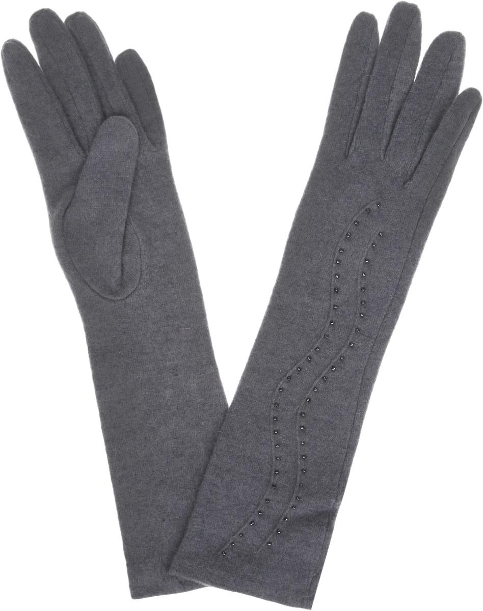 LB-PH-75LЭлегантные удлиненные женские перчатки Labbra станут великолепным дополнением вашего образа и защитят ваши руки от холода и ветра во время прогулок. Перчатки выполнены из шерсти с добавлением акрила и ангоры, что позволяет им надежно сохранять тепло и обеспечивает удобство и комфорт при носке. Модель оформлена вышивкой мелким бисером и объемными волнообразными полосками на манжете. Такие перчатки будут оригинальным завершающим штрихом в создании современного модного образа, они подчеркнут ваш изысканный вкус и станут незаменимым и практичным аксессуаром.