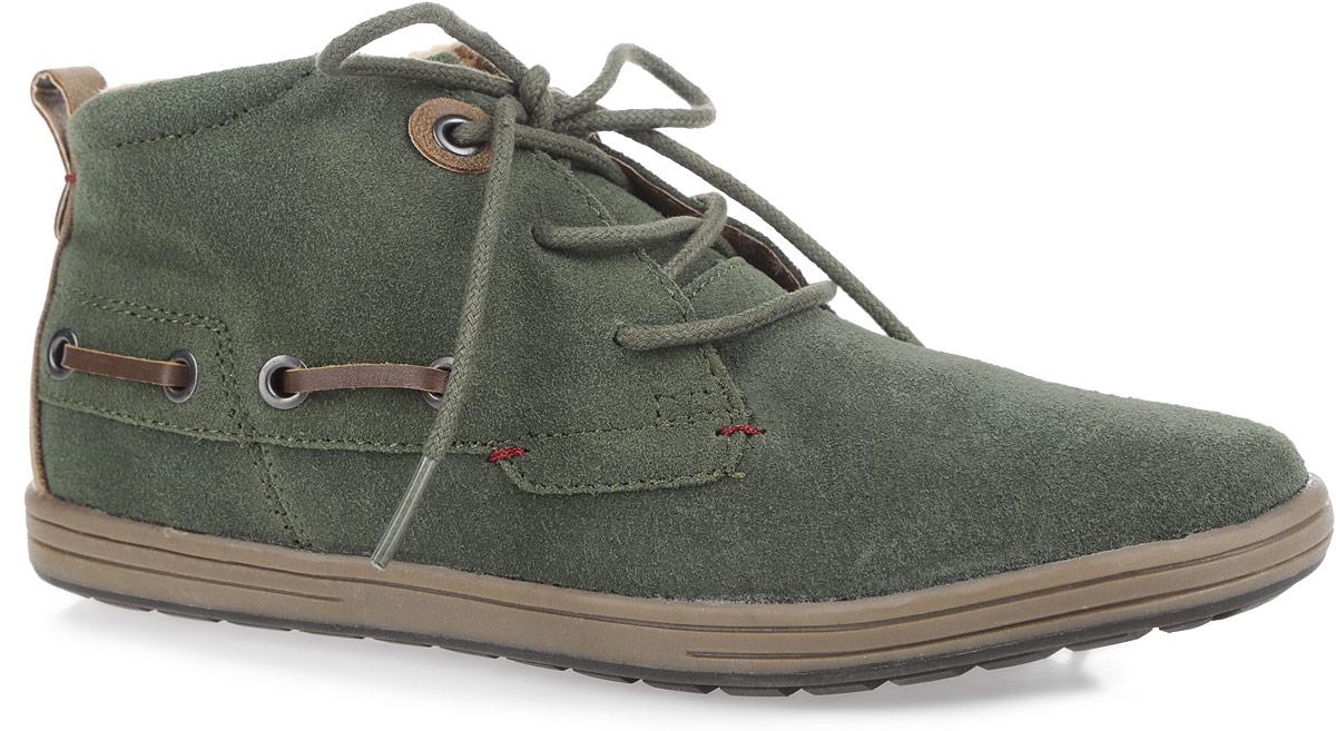 Ботинки женские. 143-1143-10Стильные женские ботинки от Nobbaro придутся по душе любой моднице. Модель выполнена из натурального спилока. Шнуровка надежно фиксирует обувь на ноге. Подкладка и стелька, выполненные из искусственной шерсти, сохранят ваши ноги в тепле. Ярлычок на заднике облегчает обувание модели. Рельефная подошва обеспечивает отличное сцепление с поверхностью. Такие ботинки прекрасно подойдут для повседневного использования и подчеркнут ваш стиль и индивидуальность.