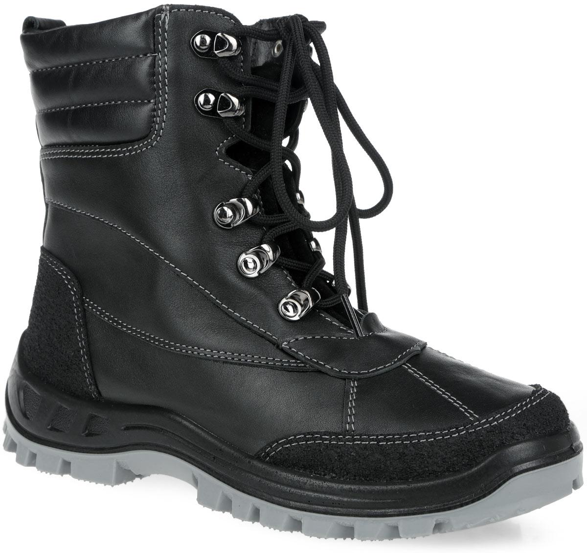 752051-41Удобные ботинки для мальчика от Котофей выполнены из натуральной кожи и оформлены контрастной прострочкой. Подкладка и съемная стелька, выполненные из шерстяного меха, не дадут ногам замерзнуть. Пяточная и носочная части защищены натуральной кожей с полиуретановым покрытием, что надолго сохраняет эффектный внешний вид обуви. Шнуровка надежно фиксирует модель на ноге. Литьевой метод крепления подошвы обеспечивает ей максимальную прочность, необходимую гибкость и минимальный вес. Подошва имеет анатомическую форму следа и в точности повторяет изгибы свода стопы, что позволяет ноге чувствовать себя комфортно весь день. Резиновая накладка на ходовой поверхности предотвращает скольжение. Удобные ботинки - необходимая вещь в гардеробе вашего ребенка.