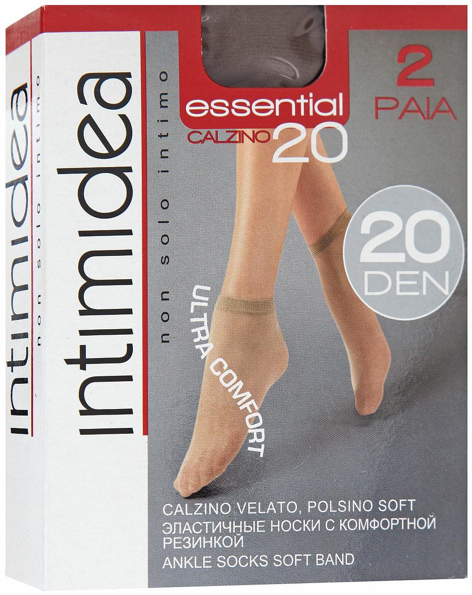 Носки женские Essential 20, 2 парыEssential 20 NeroМатовые женские носки Intimidea Essential выполнены из полиамида с добавлением эластана. Модель дополнена мягкой удобной резинкой и невидимым носком. В комплект входят 2 пары. Плотность: 20 Den.