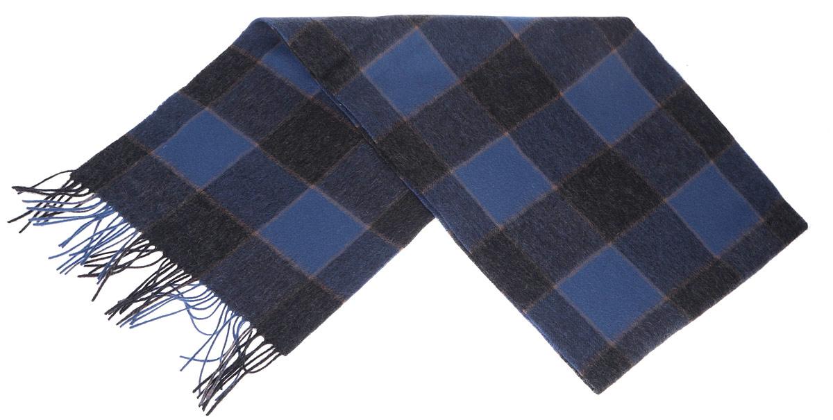 Шарф мужской. TH-21523-3TH-21523-3Стильный шарф Paccia согреет вас в прохладную погоду и станет отличным завершением вашего образа. Шарф с рисунком в крупную клетку изготовлен из натуральной шерсти. Материал мягкий и приятный на ощупь, хорошо драпируется. Края шарфа декорированы кисточками, скрученными в жгутики. Этот модный аксессуар гармонично дополнит любой наряд и подчеркнет ваш изысканный вкус.