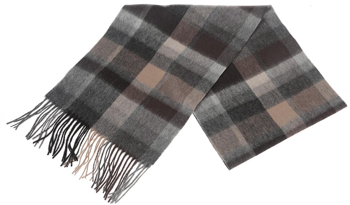 TH-21501-11Стильный шарф Paccia согреет вас в прохладную погоду и станет отличным завершением вашего образа. Шарф изготовлен из натуральной шерсти и оформлен орнаментом в клетку. Материал мягкий и приятный на ощупь, хорошо драпируется. Края шарфа декорированы кисточками, скрученными в жгутики. Этот модный аксессуар гармонично дополнит любой наряд и подчеркнет ваш изысканный вкус.