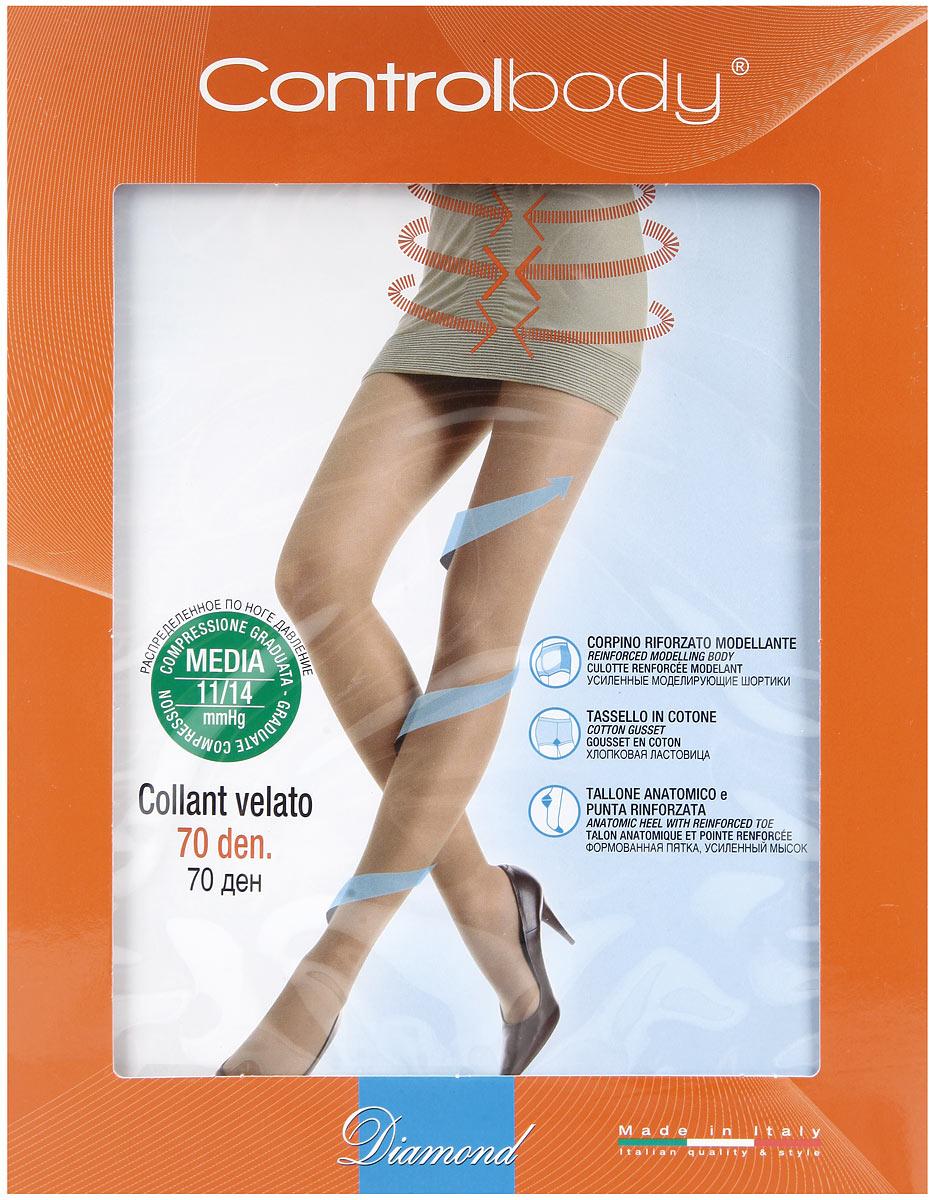 Колготки моделирующие 70 Diamond. 920153920153Матовые моделирующие колготки Control Body 70 Diamond, выполненные из высококачественного эластичного материала, сделают вашу фигуру неотразимой! Комфортные колготки с моделирующими шортиками и распределенным по ноге давлением уменьшают признаки усталости и отечности. Модель сетчатого плетения с двойным покрытием, плоскими швами, хлопковой ластовицей, формованной пяткой и усиленным мыском. Плотность 70 den. Уважаемые клиенты! Обращаем ваше внимание на тот факт, что состав материала в размере XL (5) не включает в себя хлопок (85% полиамид, 15% эластан).