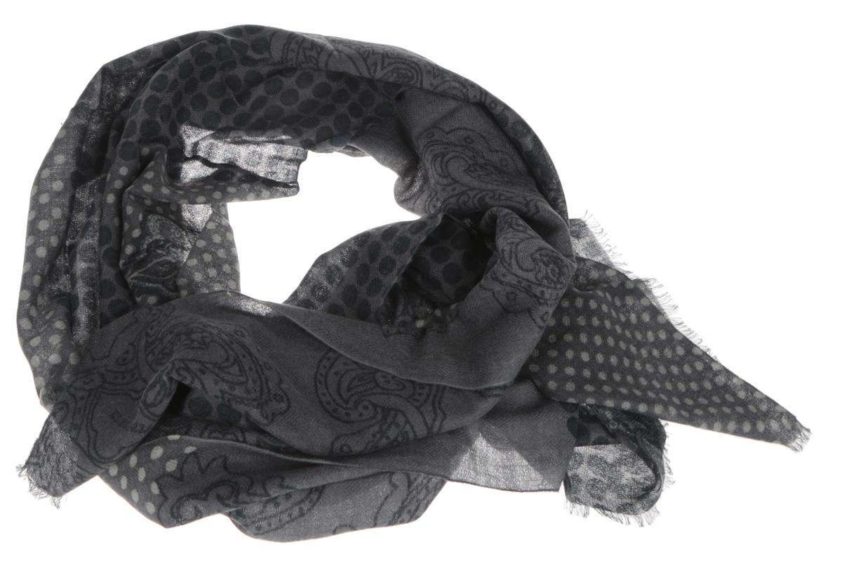 ШарфS41-0770Элегантный мужской шарф Eleganzza согреет вас в холодное время года, а также станет изысканным аксессуаром, который призван подчеркнуть ваш стиль и индивидуальность. Оригинальный и стильный шарф выполнен из высококачественной 100% шерсти, он оформлен принтом в горох и украшен тонкой бахромой по краю. Такой шарф станет превосходным дополнением к любому наряду, защитит вас от ветра и холода, и позволит вам создать свой неповторимый стиль.