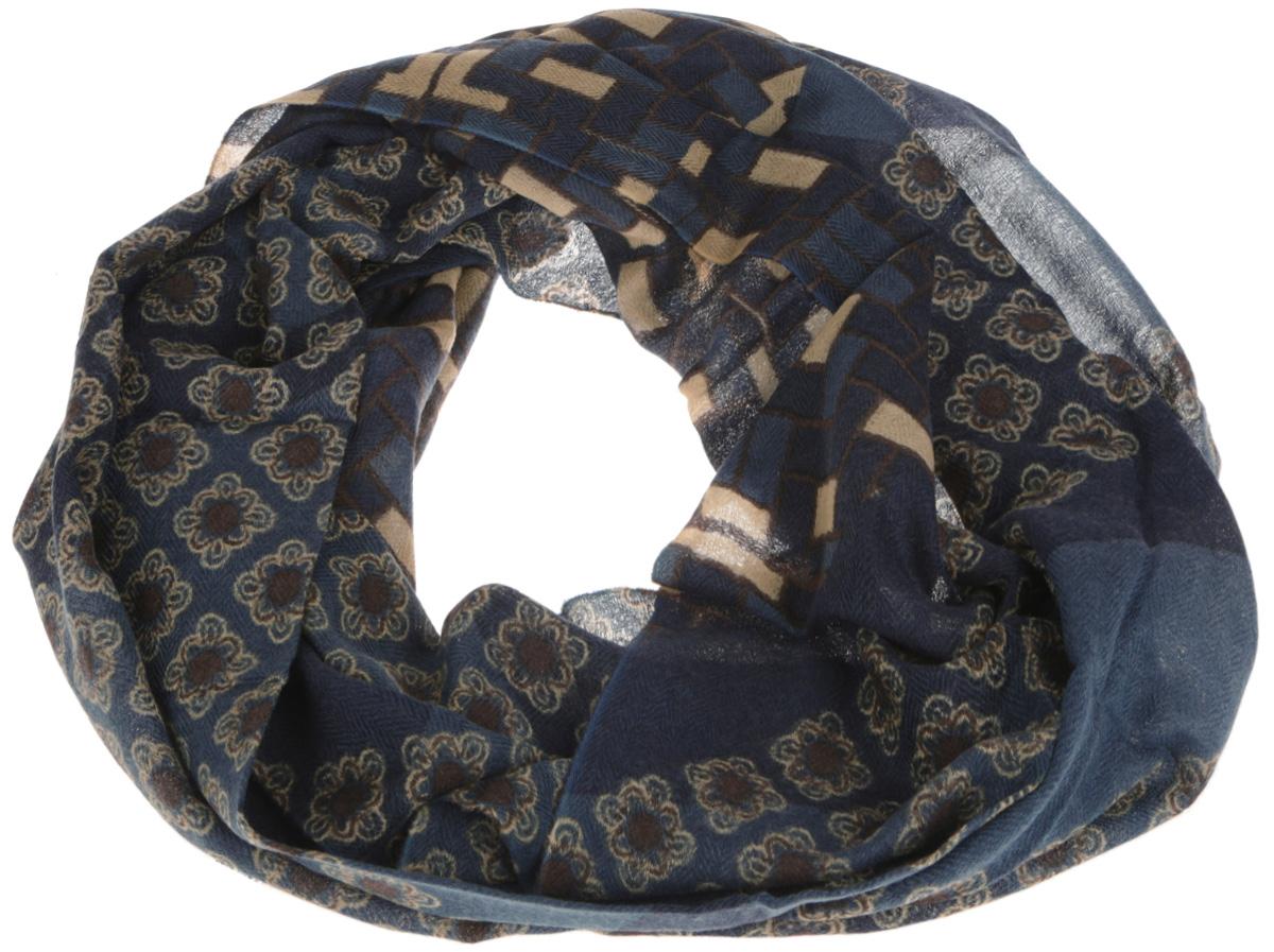 ШарфS41-0769Элегантный мужской шарф Eleganzza согреет вас в холодное время года, а также станет изысканным аксессуаром, который призван подчеркнуть ваш стиль и индивидуальность. Оригинальный и стильный шарф выполнен из высококачественной 100% шерсти, оформлен геометрическим узором и необычным цветочным орнаментом, и украшен тонкой бахромой по краю. Такой шарф станет превосходным дополнением к любому наряду, защитит вас от ветра и холода, и позволит вам создать свой неповторимый стиль.