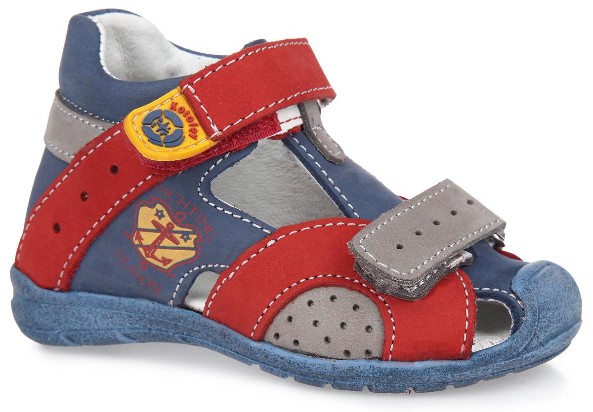 Сандалии для мальчика. 022049-21022049-21Модные сандалии от Котофей придутся по душе вашему мальчику. Модель выполнена из натурального нубука. Стелька с супинатором и внутренняя поверхность из натуральной кожи обеспечат идеальный микроклимат, благодаря чему обувь дышит. Два ремешка с застежками-липучками прочно зафиксируют ножку ребенка, не давая ей смещаться из стороны в сторону и назад. Подошва с рифлением защищает изделие от скольжения. Практичные сандалии займут достойное место в гардеробе вашего ребенка.