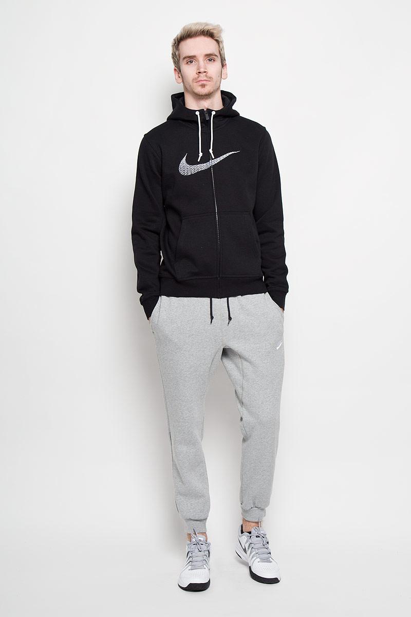 Nike ��������� ������� Club FLC FZ Hoody-Swoosh+. 679370