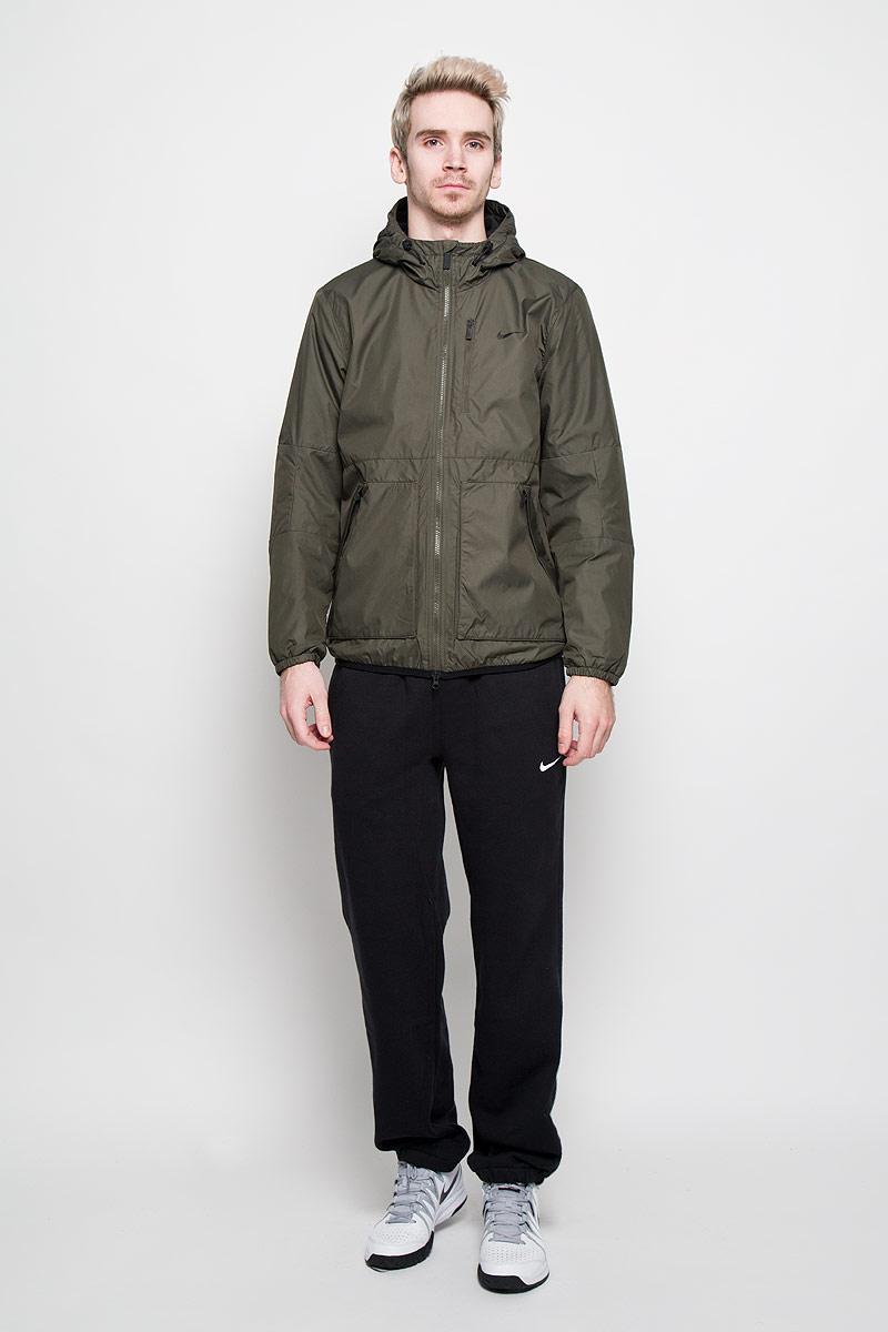 Куртка мужская Alliance Fleece-Lined. 626927626927-326Стильная мужская куртка Nike Alliance Fleece-Lined с теплоизоляцией Thermore®, изготовленная из ткани Storm-FIT, обеспечит максимальный комфорт при различных погодных условиях. Модель с несъемным капюшоном и длинными рукавами застегивается на пластиковую застежку-молнию с защитой подбородка. Манжеты изделия стянуты мелкой резинкой. Регулируемый капюшон гарантирует плотную посадку для дополнительной защиты от непогоды. Материал Storm-FIT дарит сухость и комфорт в холодную влажную погоду, а наполнитель Thermore® обеспечивает теплоизоляцию. Флисовая подкладка с начесом дарит удивительную мягкость. Спереди модель дополнена двумя накладными и одним втачным карманом на молнии. Эта легкая и одновременно теплая куртка станет отличным дополнением к вашему гардеробу!