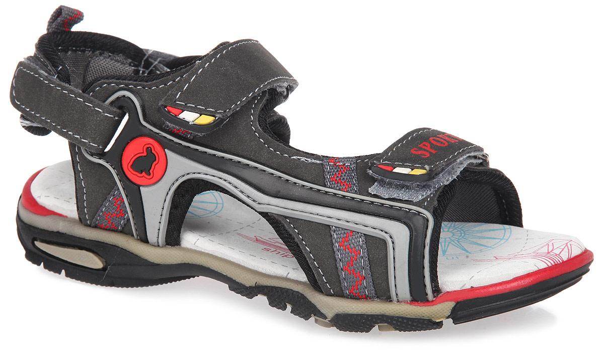 Сандалии для мальчика. 12-20112-201Сандалии для мальчика от Аллигаша подходят для повседневной носки, как в закрытых помещениях, так и для уличных прогулок. Модель, выполненная из искусственной кожи и текстиля, дополнена вставками из резины. Внутренняя поверхность выполнена из текстиля. Стелька из натуральной кожи с супинатором обеспечивает идеальный микроклимат и правильное положение ноги. Застегивается изделие на два ремешка с липучками. Пяточная часть также оснащена двумя регулирующими ремешками с липучками. Подошва из полиуретана с рельефной поверхностью предотвращает скольжение. Практичные сандалии - незаменимая вещь в гардеробе вашего ребенка.