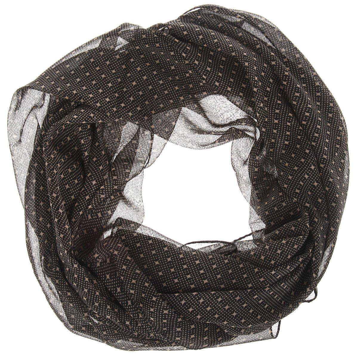 Платок524040нСтильный женский платок Ethnica станет великолепным завершением любого наряда. Легкий платок изготовлен из 100% вискозы. Он оформлен оригинальным принтом в мелкий горох, дополненный небольшими звездами. Классическая квадратная форма позволяет носить платок на шее, украшать им прическу или декорировать сумочку. Мягкий и шелковистый платок поможет вам создать изысканный женственный образ, а также согреет в непогоду. Такой платок превосходно дополнит любой наряд и подчеркнет ваш неповторимый вкус и элегантность.
