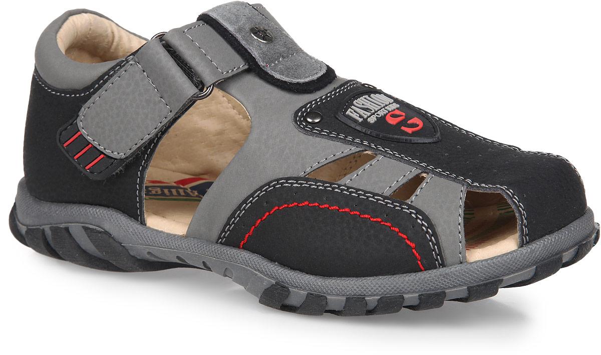 Сандалии194Сандалии для мальчика от Аллигаша подходят для повседневной носки в закрытых помещениях и уличных прогулок. Модель выполнена из искусственной кожи. Стелька с супинатором и внутренняя поверхность из натуральной кожи обеспечат идеальный микроклимат, благодаря чему обувь дышит. Ремешок с застежкой-липучкой прочно зафиксирует ножку ребенка, не давая ей смещаться из стороны в сторону и назад. Подошва с рифлением защищает изделие от скольжения. Практичные сандалии займут достойное место в гардеробе вашего ребенка.