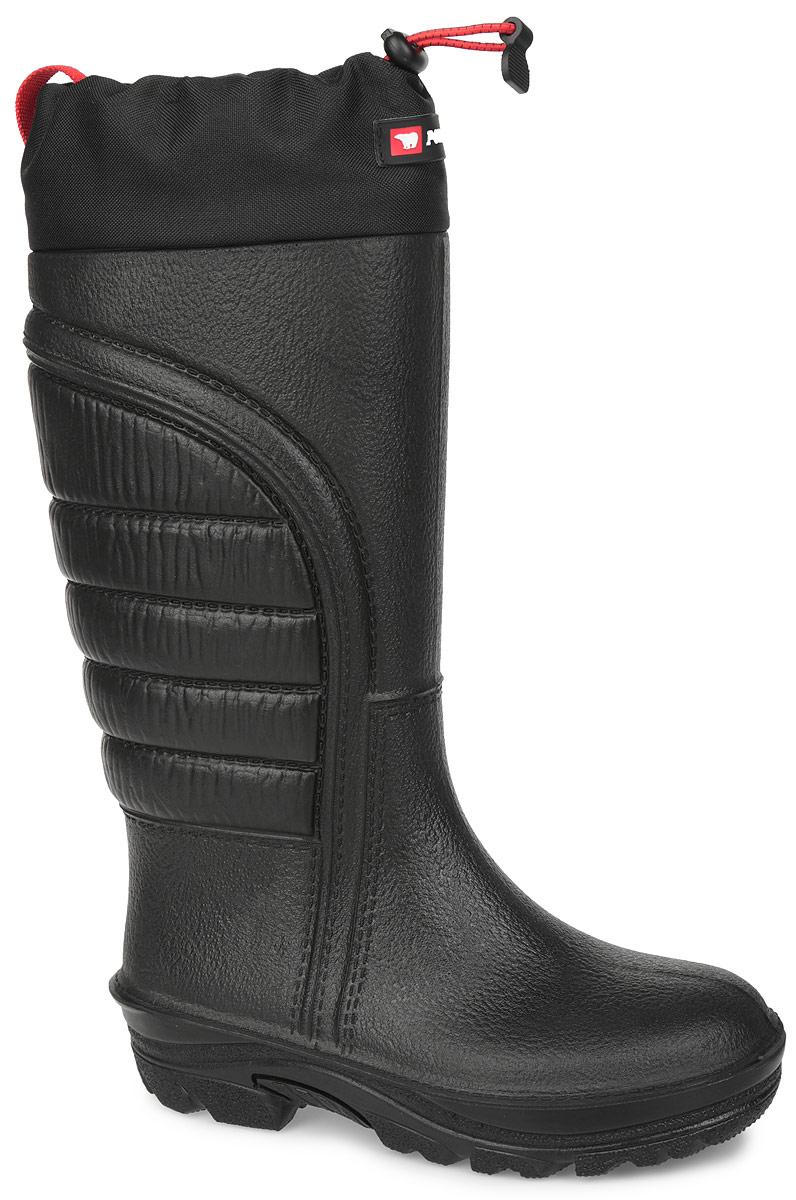 Сапоги женские Premium+. 17BA-F17BA-FНе имеющие аналогов, теплые, экологически чистые сапоги от Polyver с высоким голенищем выполнены из вспененного полиуретана, обладающего 100% водонепроницаемостью, и оформлены по канту вставкой из текстиля. Верх голенища дополнен нашивкой с символикой бренда и шнурком с фиксатором для лучшей фиксации обуви на ноге и регулировки объема. Полиуретан - отличный теплоизолятор, так как в его пористой структуре содержится воздух, который обладает самой малой теплопроводностью. Подкладка из искусственного меха и шерсти разработана специально таким образом, чтобы отводить влагу при потении и обеспечивать комфорт. Стелька из текстиля. Сапоги производятся методом литья из единой массы полиуретана, что делает их абсолютно водонепроницаемыми. Отливаемая масса полиуретана смешана с антибактериальной добавкой, которая не позволяет развиваться бактериям и плесени внутри сапога. Задник оформлен ярлычком для более удобного надевания обуви. Малый вес сапог экономит силы при ходьбе....