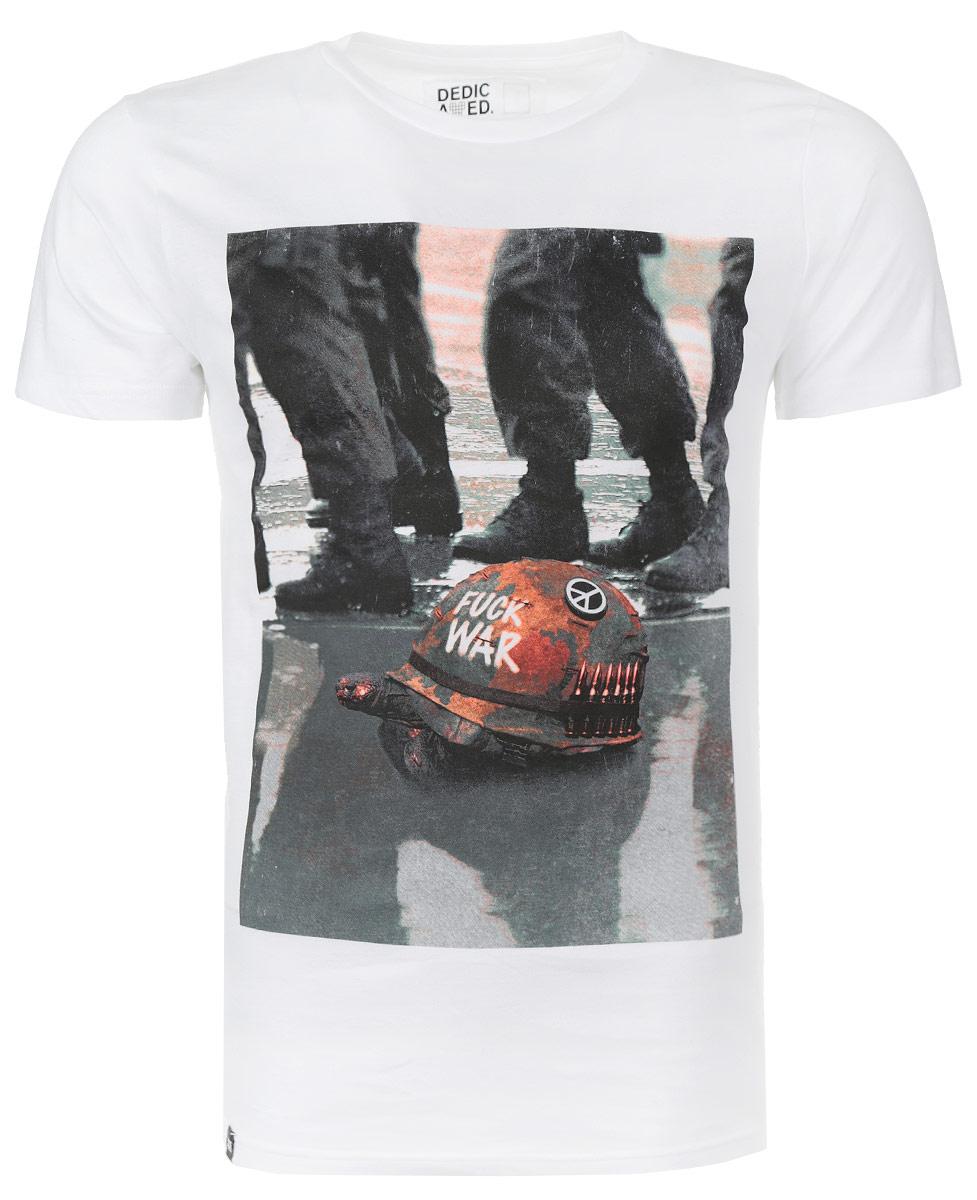 Футболка14098Симпатичная мужская футболка Dedicated War Turtle станет модным дополнением к вашему гардеробу. Модель изготовлена из высококачественного материала, благодаря чему великолепно пропускает воздух и обладает высокой гигроскопичностью. Футболка прямого кроя, с короткими рукавами и круглым вырезом горловины оформлена оригинальным принтом. Такая футболка будет отлично смотреться на вас.
