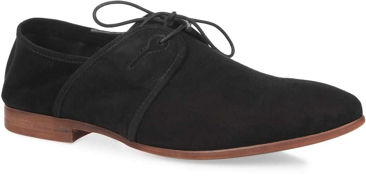 Туфли мужские. 106-73-114106-73-114Элегантные мужские туфли от Dino Ricci займут достойное место среди вашей коллекции обуви. Модель выполнена из натурального высококачественного велюра и декорирована углублениями в виде ключей на берцах. Шнуровка позволяет прочно зафиксировать модель на ноге. Стелька из натуральной кожи оснащена перфорацией, позволяющей вашим ногам дышать. Ярким акцентом модели являются подошва и каблук, стилизованные под дерево. Каблук и подошва дополнены противоскользящим эффектом. Стильные туфли прекрасно дополнят ваш деловой образ.