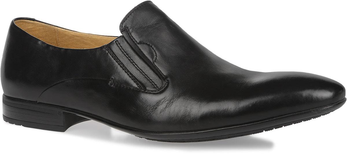 Туфли мужские. M171019M171019Элегантные мужские туфли Vitacci займут достойное место в вашем гардеробе. Модель изготовлена из высококачественной натуральной кожи и оформлена декоративными стежками на боковых сторонах. Резинки, расположенные на подъеме, обеспечивают оптимальную посадку модели на ноге. Подкладка и стелька из натуральной кожи комфортны при ходьбе. Низкий каблук и подошва дополнены противоскользящим рифлением. Изысканные туфли не оставят равнодушным ни одного мужчину.