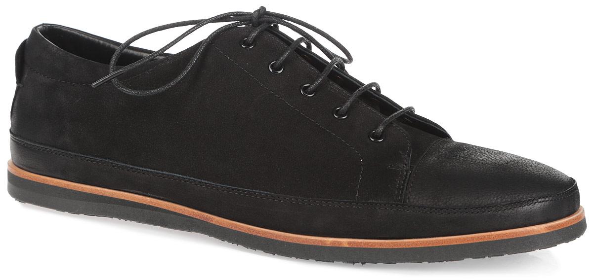 Полуботинки мужские. 5129351293Модные мужские полуботинки от Antonio Biaggi покорят вас своим удобством.Модель выполнена из нубука. Удобная шнуровка надежно фиксирует обувь на ноге. Стелька из натуральной кожи обеспечит комфорт при ходьбе. Резиновая подошва дополнена противоскользящим рифлением и оформлена декоративной вставкой, стилизованной под дерево. Стильные полуботинки прекрасно впишутся в ваш гардероб.
