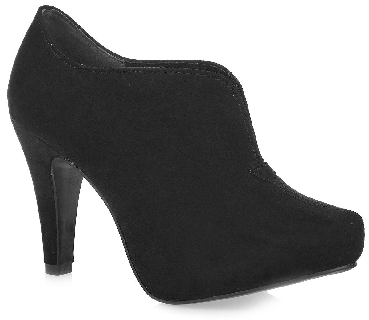 Ботильоны женские. 2-2-24402-25-0012-2-24402-25-001Стильные женские ботильоны от Marco Tozzi заинтересуют вас своим дизайном с первого взгляда! Модель выполнена из искусственной замши. Подкладка - из текстиля, а стелька - из искусственной кожи, обеспечат комфорт и уют ногам. Зауженный носок добавит женственности в ваш образ. Разрез в области подъема компенсирует отсутствие застежек. Каблук устойчив. Подошва из резины с рельефным протектором обеспечивает отличное сцепление на любой поверхности. В этих ботильонах вашим ногам будет комфортно и уютно. Они подчеркнут ваш стиль и индивидуальность.