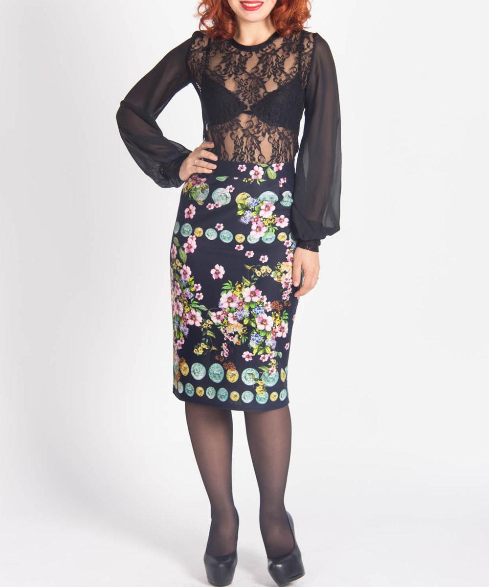 Юбка. ю0124ю0124Нарядная юбка Lautus выполнена из яркой, плотной ткани. Очаровательная юбка застегивается сзади на пуговицу и потайную застежку-молнию. Модель оформлена красочным цветочным принтом с древними античными монетами. Сзади на изделии имеется шлица. Стильная юбка выгодно освежит и разнообразит любой гардероб. Создайте женственный образ и подчеркните свою яркую индивидуальность!
