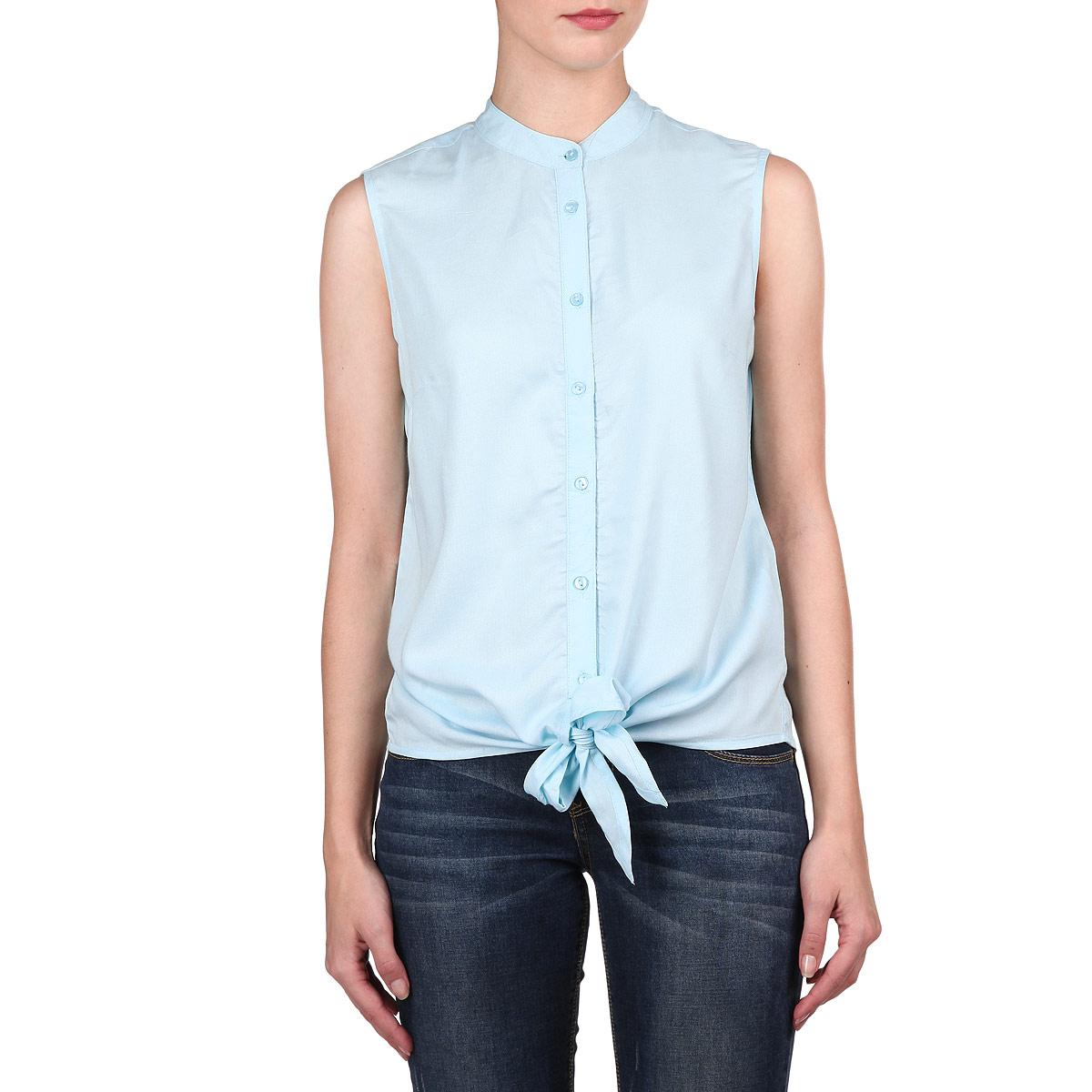 БлузкаSBW0179TUЭлегантная блузка без рукавов от Top Secret внесет изысканные нотки в ваш модный образ. Модель выполнена из стопроцентной вискозы. Блузка застегивается при помощи перламутровых пуговиц. Круглый вырез горловины подчеркивает шею. Низ модели дополнен двумя завязками. Лаконичная прострочка завершает композицию. Стильная блузка - основа гардероба настоящей леди. Она подчеркнет ваше отменное чувство стиля и безупречный вкус!