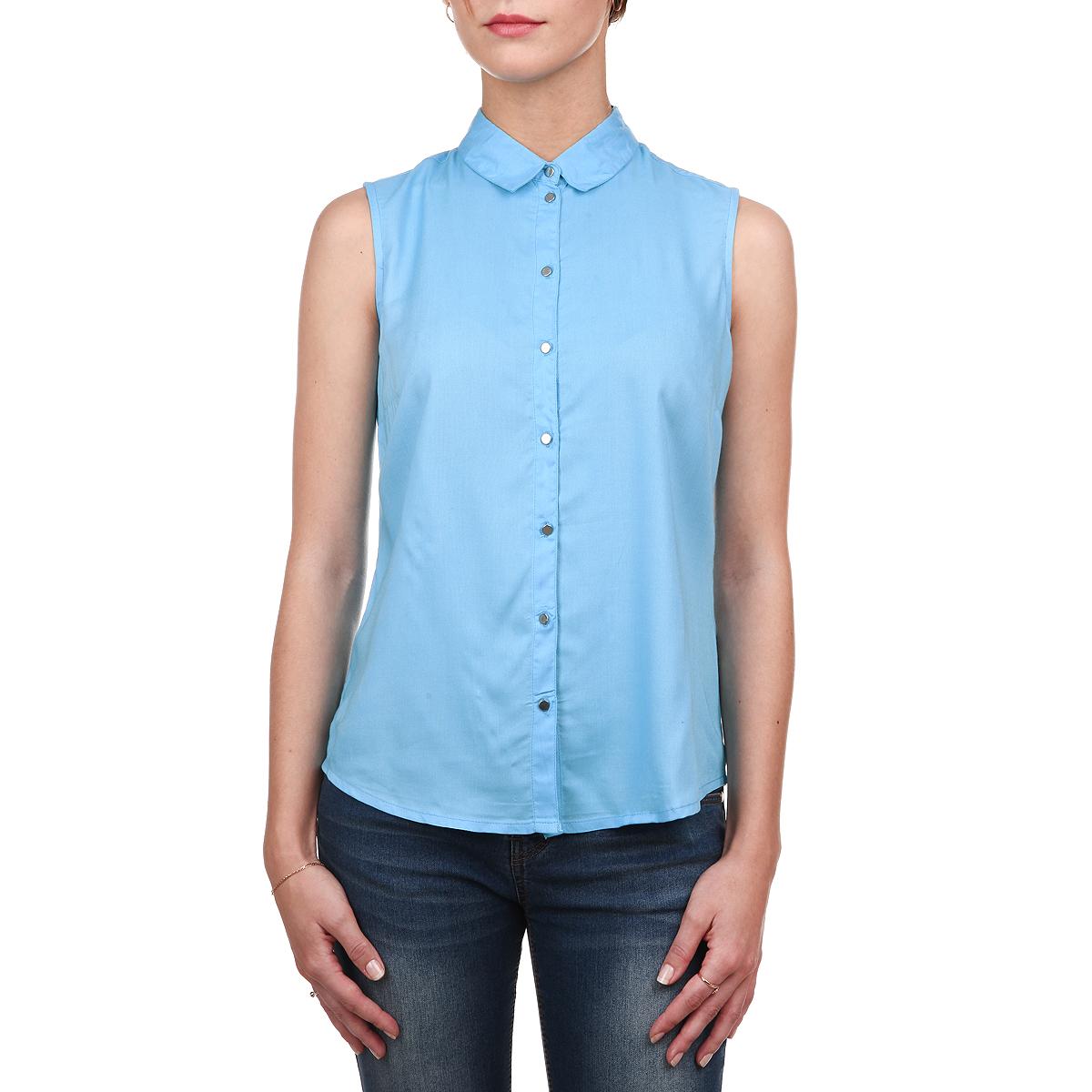 Блузка женская. SKS087SKS0876ZOСтильная блузка Top Secret выполнена из мягкой вискозы, очень приятной на ощупь. Модель прямого кроя с отложным воротником, полукруглым низом и без рукавов. Изделие застегивается на пуговицы по всей длине. Модная блузка займет достойное место в вашем гардеробе.