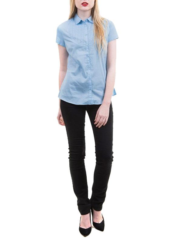 БлузкаBs-112/364-5193Элегантная блузка Sela выполнена из легкого эластичного материала. Модель приталенного силуэта с короткими рукавами и отложным воротничком. Изделие застегивается на пуговицы по всей длине. На груди блузка оформлена декоративными складками с отстрочкой. Модная блузка послужит отличным дополнением к вашему гардеробу, в ней вы будете чувствовать себя комфортно.
