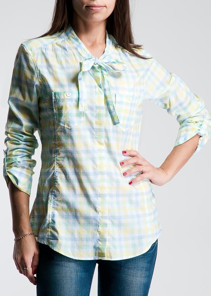 Блуза. DABRJEDABRJEСтильная блуза Caliban, выполненная из высококачественного материала, очень приятная на ощупь, не раздражает даже самую нежную и чувствительную кожу и хорошо вентилируется. Блуза с длинными рукавами застегивается на пуговицы. Элегантная блуза - классический наряд, который должен быть у любой женщины.