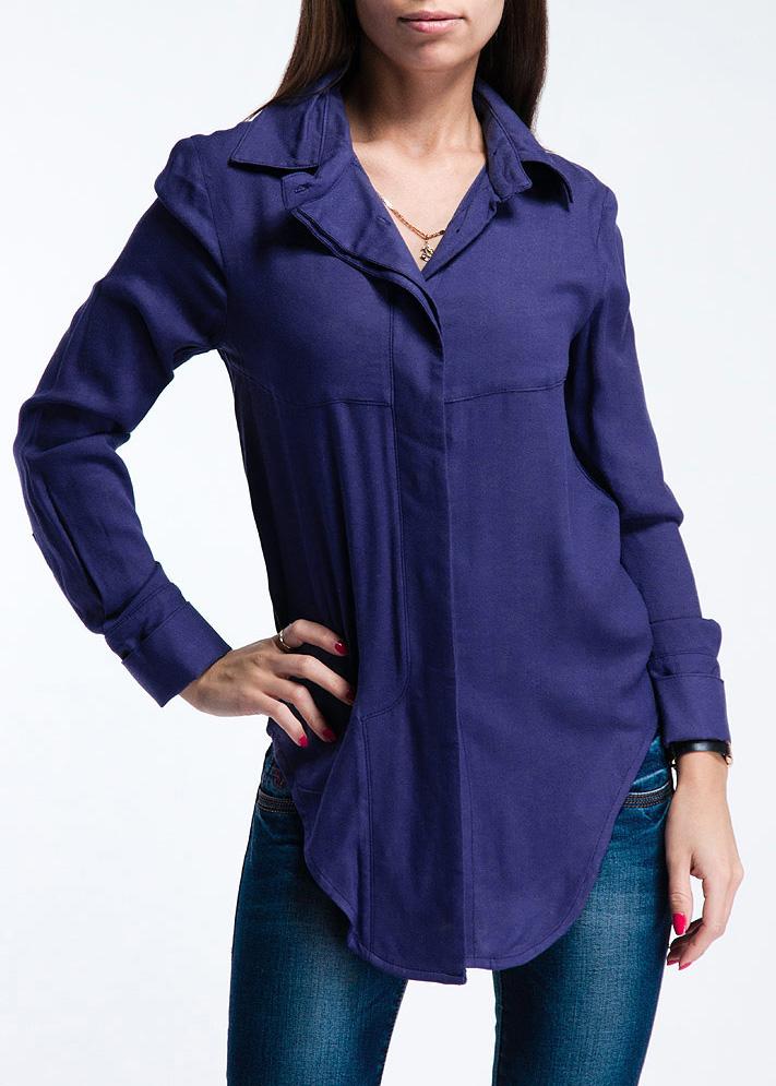 Блуза. PV2013024CPV2013024CСтильная блуза свободного кроя, выполненная из высококачественного и приятного к телу материала, подарит непревзойденный комфорт. Модель с отложным воротником и длинными рукавами спереди застегивается на пуговицы. Идеальный вариант на каждый день.