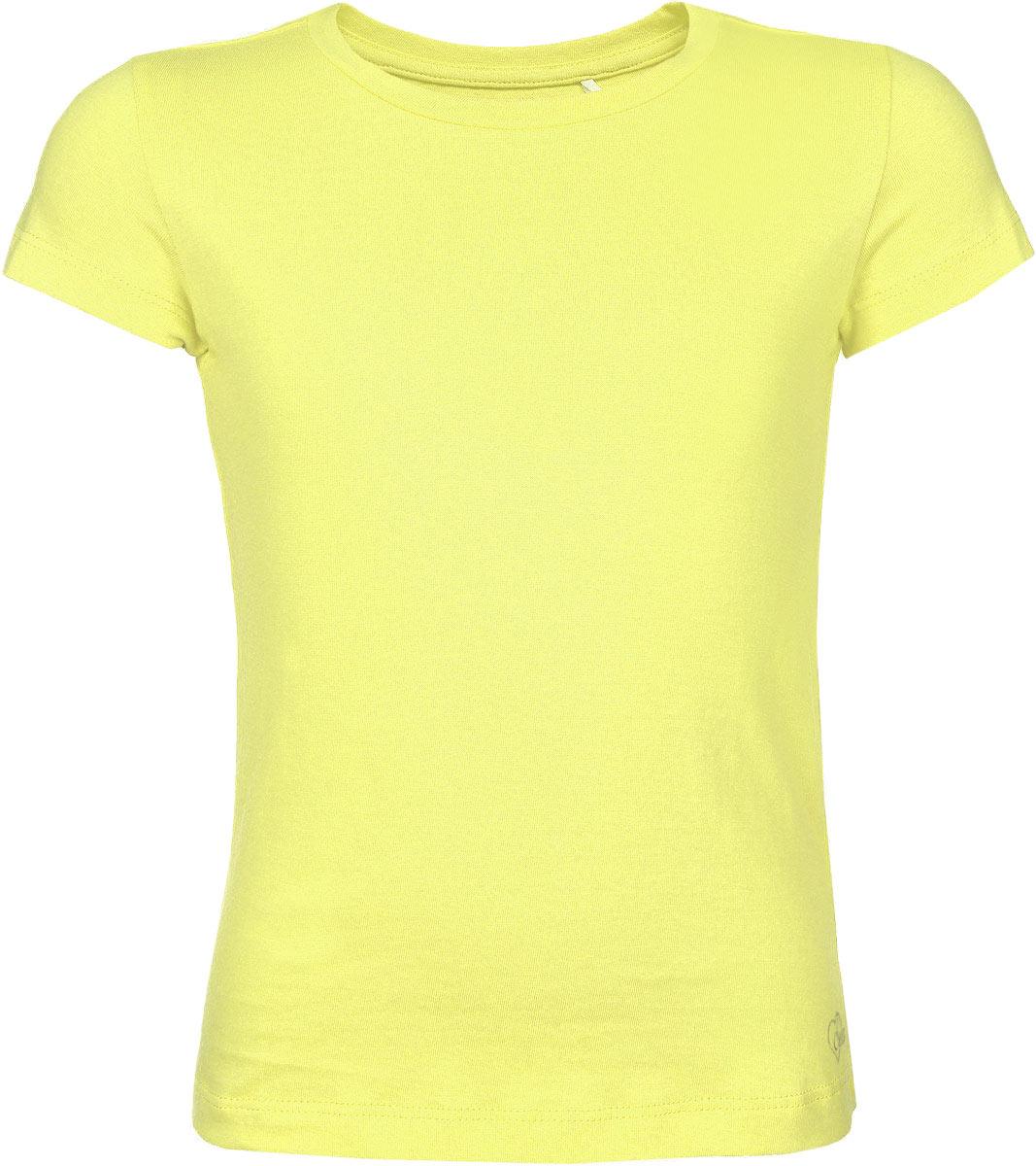 Футболка для девочки. Ts-611/066-6111Ts-611/066-6111Стильная футболка для девочки Sela идеально подойдет вашей дочурке. Изготовленная из натурального хлопка, она необычайно мягкая и приятная на ощупь, не сковывает движения и позволяет коже дышать, не раздражает даже самую нежную и чувствительную кожу ребенка, обеспечивая ему наибольший комфорт. Футболка трапециевидного кроя с короткими рукавами и круглым вырезом горловины снизу оформлена небольшой термоаппликацией в виде логотипа бренда. Вырез горловины дополнен трикотажной эластичной резинкой. Современный дизайн и расцветка делают эту футболку модным и стильным предметом детского гардероба. В ней ваша маленькая модница будет чувствовать себя уютно и комфортно, и всегда будет в центре внимания!