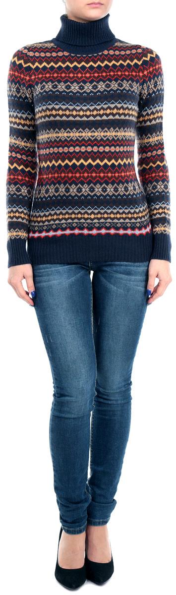 Свитер женский. B135543B135543Оригинальный женский свитер Baon, изготовленный из высококачественной пряжи, мягкий и приятный на ощупь, не сковывает движений и обеспечивает наибольший комфорт. Модель с воротником-гольф и длинными рукавами великолепно подойдет для создания современного образа в стиле Casual. Свитер оформлен оригинальным геометрическим узором. Этот свитер послужит отличным дополнением к вашему гардеробу. В нем вы всегда будете чувствовать себя уютно и комфортно в прохладную погоду.