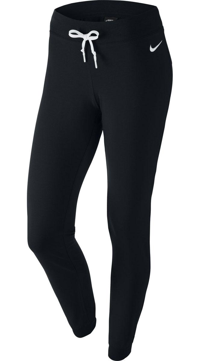 Брюки спортивные женские Jersey Pant-Cuffed. 617330617330_010Женские спортивные брюки Nike Jersey Pant-Cuffed станут незаменимыми для энергичных людей, работающих на результат. Чтобы тренировка была легче и эффективней, одежда должна быть комфортной и свободной. Именно такими делает эти брюки хлопковый материал. Для удобной посадки предусмотрен регулируемый пояс. А для большей свободы движений брюки заужены к низу и дополнены эластичными манжетами. Модель украшена контрастным вышитым логотипом Nike. В потрясающих спортивных брюках от Nike вы всегда будете чувствовать свежесть, поскольку лишняя влага сможет быстро испаряться.