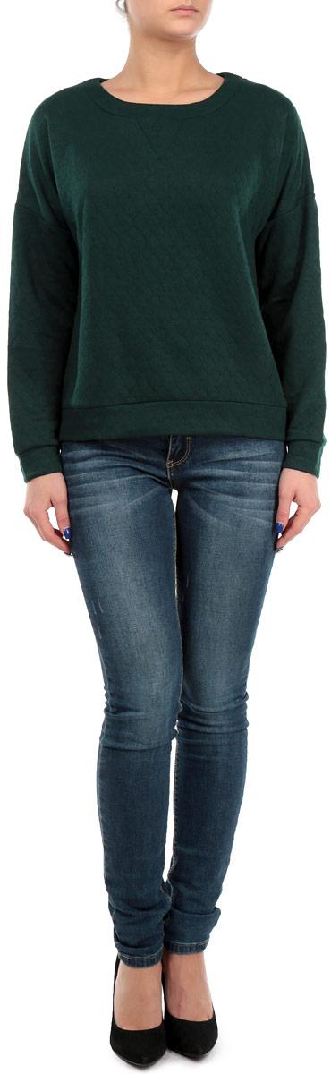Свитшот женский. 1015178810151788 661Стильный женский свитшот Broadway, изготовленный из высококачественного полиэстера, необычайно мягкий и приятный на ощупь, не сковывает движения, обеспечивая наибольший комфорт. Модель лаконичного дизайна с круглым вырезом горловины и длинными рукавами со спущенной линией плеча. Свитшот имеет широкую мягкую резинку по низу и манжетам, что предотвращает проникновение холодного воздуха. Эта модная и в тоже время комфортная модель отличный вариант как для активного отдыха, так и для занятий спортом!