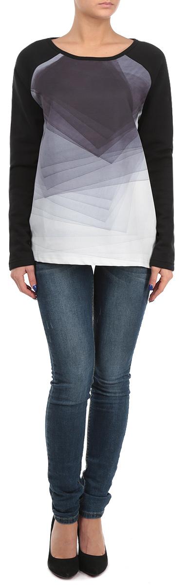 Свитшот10153871 807Стильный женский свитшот Broadway, изготовленный из высококачественного хлопка с добавлением полиэстера, мягкий и приятный на ощупь, не сковывает движений и обеспечивает наибольший комфорт. Перед свитшота выполнен из 100% полиэстера. Модель свободного кроя с круглым вырезом горловины и длинными рукавами оформлена абстрактным геометрическим принтом. Этот свитшот - настоящее воплощение комфорта, он послужит отличным дополнением к вашему гардеробу. В нем вы будете чувствовать себя уютно в прохладное время года.