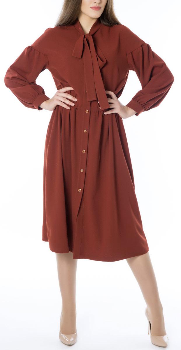 Платье665Стильное женское платье Lautus, выполненное из высококачественных материалов, идеально впишется в ваш гардероб. Модель с изящным воротником и длинными рукавами застегивается на пуговицы по всей длине. Оригинальный крой изделия подчеркнет достоинства вашей фигуры.. Манжеты рукавов модели дополнены клястиками на пуговицах. Это яркое платье с оригинальным принтом станет отличным дополнением к вашему гардеробу.