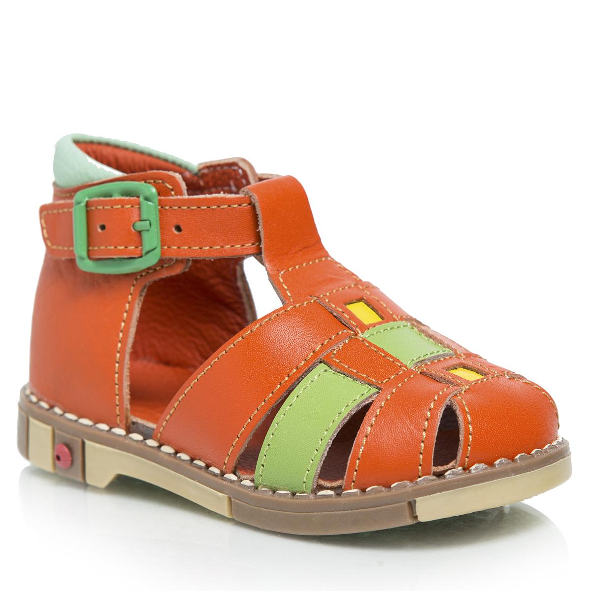 Сандалии234-14Стильные детские сандалии Таши Орто приведут в восторг вашу маленькую модницу. Модель выполнена из натуральной кожи контрастных цветов. Ремешок на застежке-пряжке, которая не ослабевает в процессе носки, помогает оптимально подогнать полноту обуви по ноге и гарантирует надежную фиксацию. Литая анатомическая стелька из натуральной кожи со сводоподдерживающим элементом и латексным покрытием, не продавливающаяся во время носки, обеспечивает правильное формирование стопы. Благодаря использованию современных внутренних материалов, позволяет оптимально распределить нагрузку по всей площади стопы, дает ножке ощущение мягкости и комфорта. Полужесткий задник фиксирует ножку ребенка, не давая ей смещаться из стороны в сторону и назад. Мягкая верхняя часть, которая плотно прилегает к ножке, и подкладка, изготовленная из натуральной кожи, позволяют избежать натирания. Широкий, устойчивый каблук, специальной конфигурации каблук Томаса, продлен с внутренней стороны до середины стопы, чтобы...